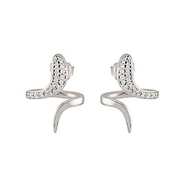 Damiani 18k White Gold .61 CTW Diamond Eden Earrings