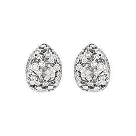 Damiani 18k White Gold 1.14 CTW Diamond Lattea Earrings