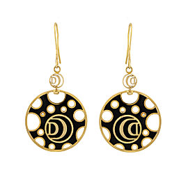 Damiani Yellow Gold Diamond Ceramic Damianissma Earrings