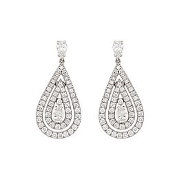 Damiani 18k White Gold 1.64 CTW Diamond Regina Earrings