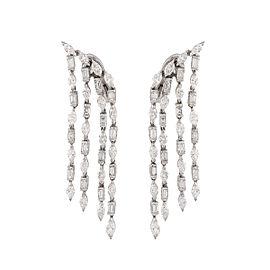 Damiani 18k White Gold 6.52 CTW Diamond Velvet Earrings