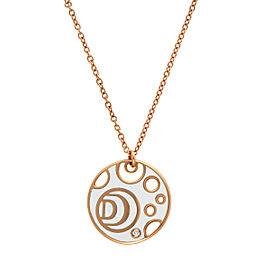 Damiani Yellow Gold Diamond Damianissma Necklace