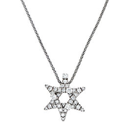 Damiani 18k White Gold .59 CTW Diamond Stella Necklace