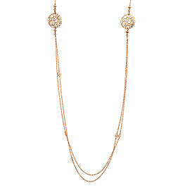 Damiani 18k Yellow Gold .32 CTW Diamond Necklace