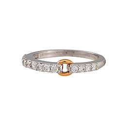Damiani 18k White Gold .42 CTW Diamond Starlight Ring