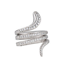 Damiani 18k White Gold .96 CTW Diamond Eden Ring