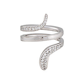 Damiani 18k White Gold .38 CTW Diamond Eden Ring