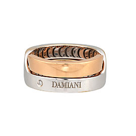 Damiani 18k White Gold Diamond Baci Ring