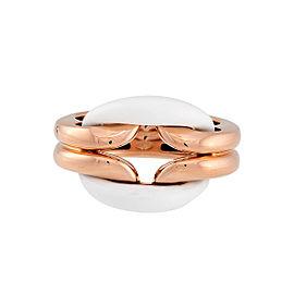 Damiani 18k Rose Gold Diamond & Agate Lace Ring