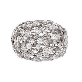 Damiani 18k White Gold 1.08 CTW Diamond Lattea Ring
