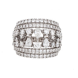Damiani 18k White Gold 2.49 CTW Diamond Regina Ring