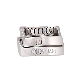 Damiani 18k White Gold .01 CTW Diamond Baci Ring