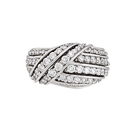 Damiani 18k White Gold 1.95 CTW Diamond Ring