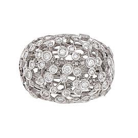 Damiani 18k White Gold 1.07 CTW Diamond Lattea Ring
