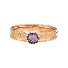 Damiani 18k Rose Gold Diamond & Amethyst Excaliber Bracelet