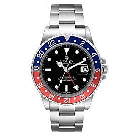 Rolex GMT Master II Pepsi Red and Blue Bezel Steel Mens Watch 16710