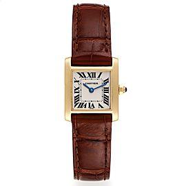 Cartier Tank Francaise Yellow Gold Silver Dial Quartz Ladies Watch W5000256