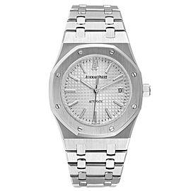 Audemars Piguet Royal Oak White Dial Steel Mens Watch 15300ST