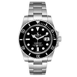 Rolex Submariner Black Dial Ceramic Bezel Steel Mens Watch 116610 Box Card