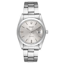 Rolex OysterDate Precision Silver Dial Steel Vintage Mens Watch