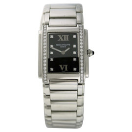Patek Philippe Twenty-4 Stainless Steel & Diamond 25mm x 30mm Watch