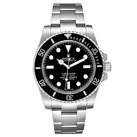 Rolex Submariner 40mm Black Dial Ceramic Bezel Steel Watch 114060 Box Card