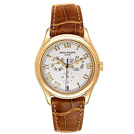 Patek Philippe Complicated Annual Calendar Yellow Gold Mens Watch 5035
