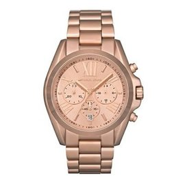 Michael Kors Bradshaw MK5503 Rose Gold Tone Stainless Steel 43mm Quartz Women Watch