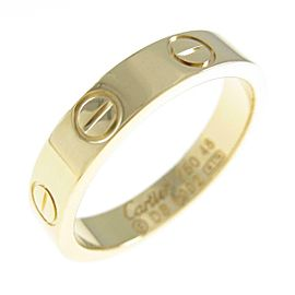 Cartier 18K Yellow Gold Mini Love ring TkM-95