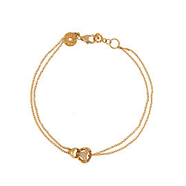 Di Modolo 18k Yellow Gold .20 CTW Diamond Linked by Love Bracelet