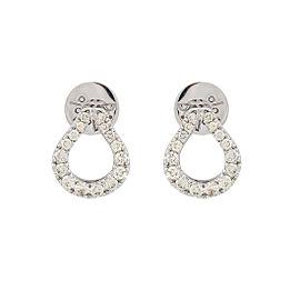 Di Modolo 18k White Gold .70 CTW Diamond Fiama Earrings