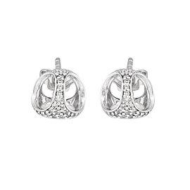 Di Modolo 18k White Gold .15 CTW Diamond Icona Earrings