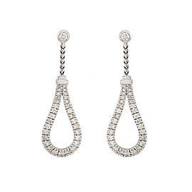 Di Modolo 18k White Gold .88 CTW Diamond Fiama Earrings
