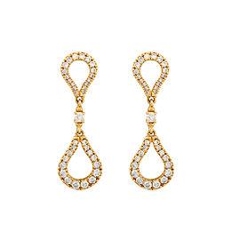 Di Modolo 18k Yellow Gold .27 CTW Diamond Fiama Earrings