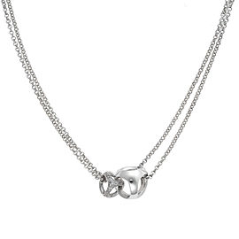 Di Modolo Sterling Silver .27 CTW Diamond Linked by Love Necklace