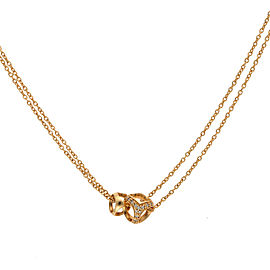 Di Modolo 18k Yellow Gold .20 CTW Diamond Linked by Love Necklace