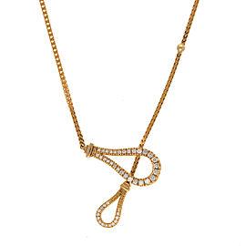 Di Modolo 18k Yellow Gold .50 CTW Diamond Fiama Necklace