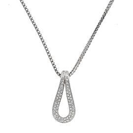 Di Modolo 18k White Gold .40 CTW Diamond Fiama Pendant