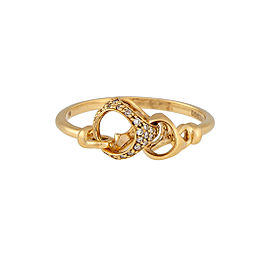 Di Modolo 18k Yellow Gold .13 CTW Diamond Linked by Love Ring