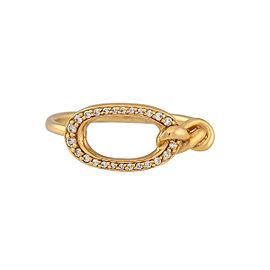 Di Modolo 18k Yellow Gold .09 CTW Diamond Nodo Ring