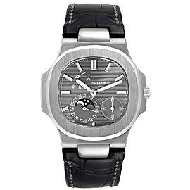 Patek Philippe Nautilus White Gold Moonphase Mens Watch 5712G