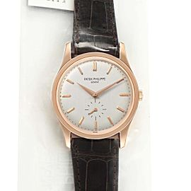 Patek Philippe Calatrava 18k Rose Gold Silver Dial Mens Watch 5196G Sealed