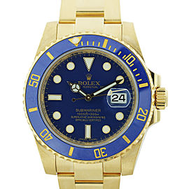 Rolex Submariner 116618 40mm Yellow Gold Watch