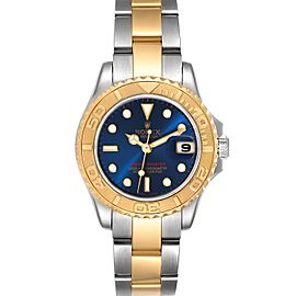 Rolex Yachtmaster 29 Steel Yellow Gold Blue Dial Watch 169623
