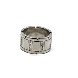Cartier Tank Francaise 18K White Gold Diamond Ring Size 5.75