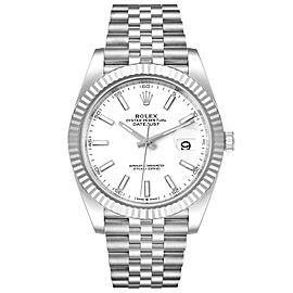 Rolex Datejust 41 Steel White Gold Jubilee Bracelet Mens Watch 126334