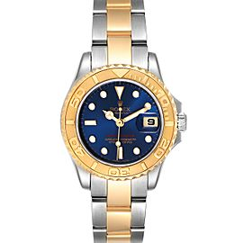 Rolex Yachtmaster 29 Steel Yellow Gold Blue Dial Ladies Watch