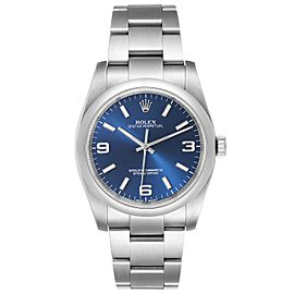 Rolex Oyster Perpetual 36mm Blue Dial Steel Mens Watch 116000