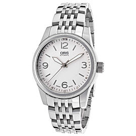 Oris Swiss Hunter Team Diamond 733-7649-4031-MB Stainless Steel Womens Watch