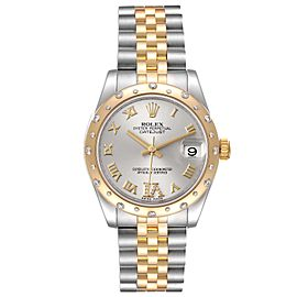 Rolex Datejust 31 Midsize Steel 18K Yellow Gold Diamond Watch